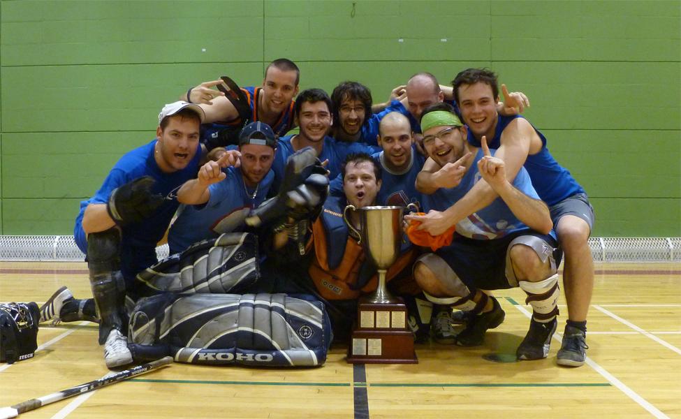 Nordiques champion de ligue de hockey cosom à Montréal