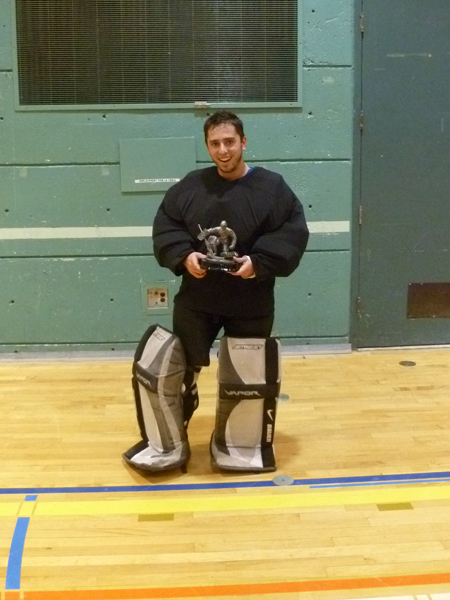 Gardien ligue hockey balle